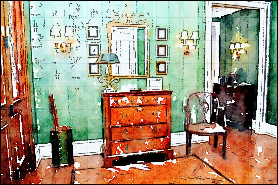 Interior Design Watercolor Using An App Content In A Cottage