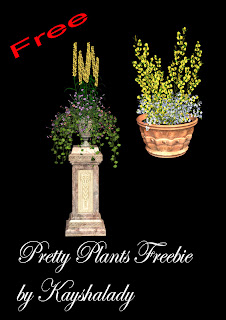 Pretty plants freebie PNG, PNG Tubes, PNG Tube files, digital scrapbooking kits