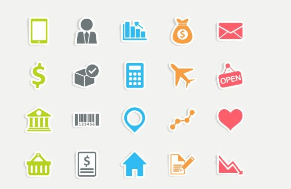 Free Business Sticker Vector Icons(AI, EPS, PNG)