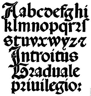 roundhand calligraphy alphabet