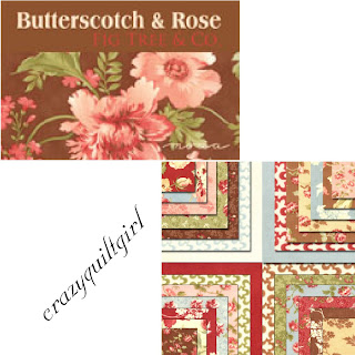 Moda BUTTERSCOTCH & ROSE Quilt Fabric by Fig Tree Quilts