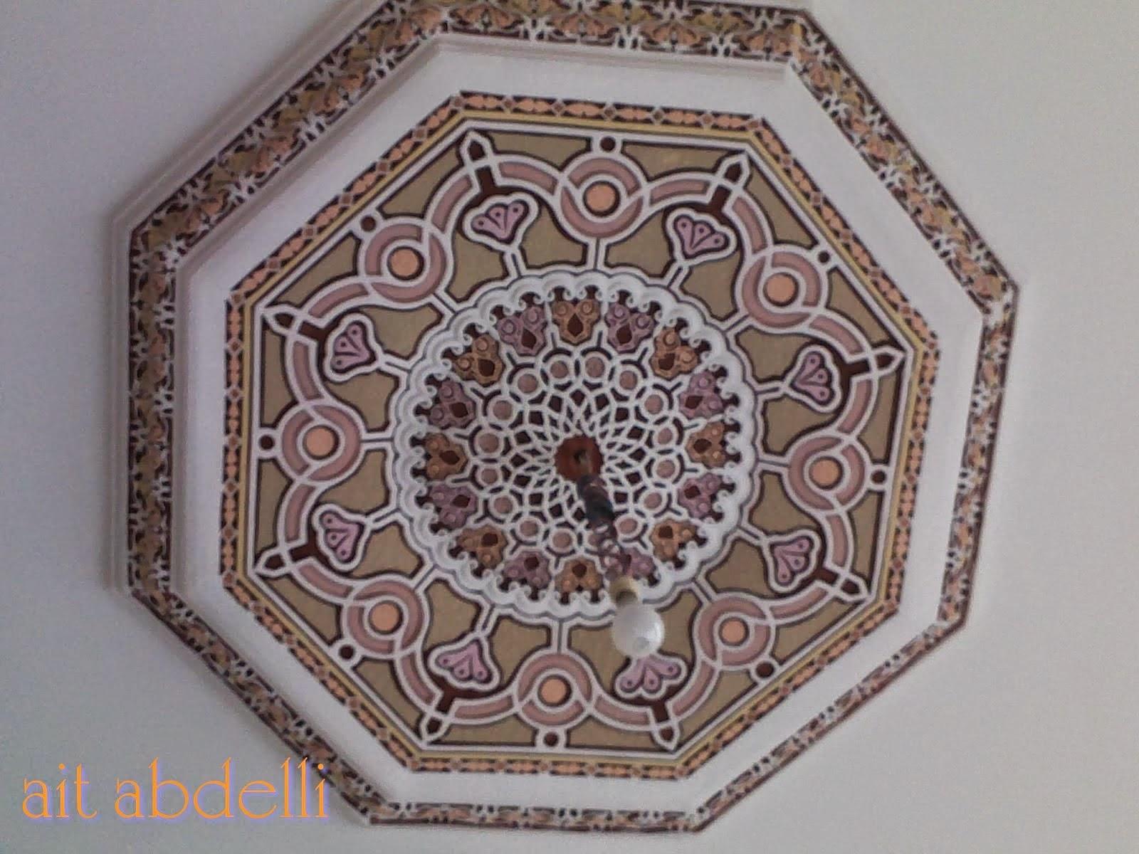 Decoration salon marocain avec platre for Rosace en platre marocain