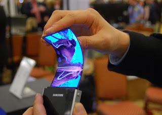movil samsung con pantalla flexible