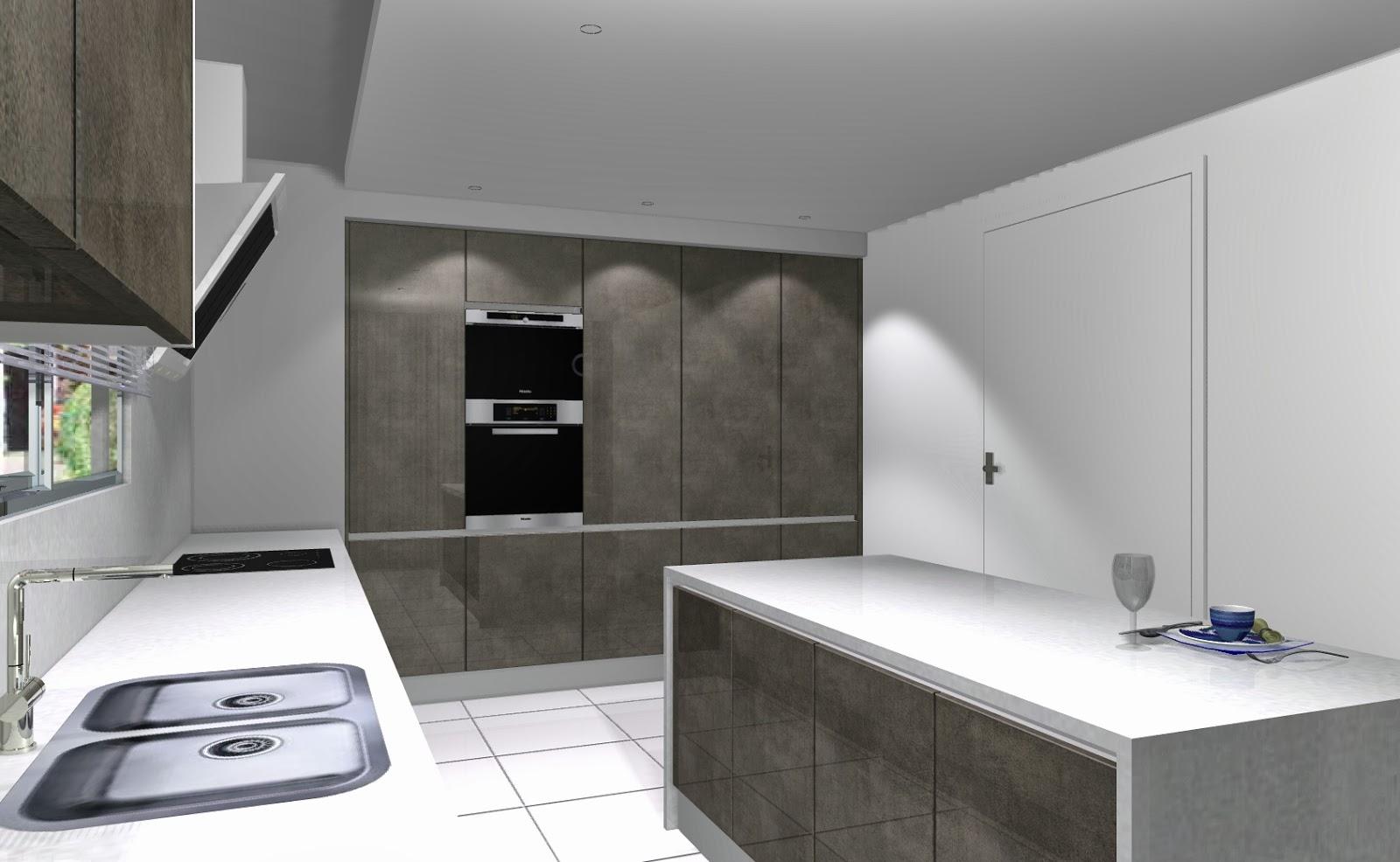 Celeiro do Móvel: Cozinha moderna 3D o branco! #627A51 1600 986