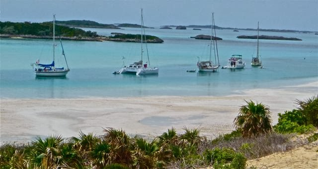anchoring in tight channels exuma bahamans