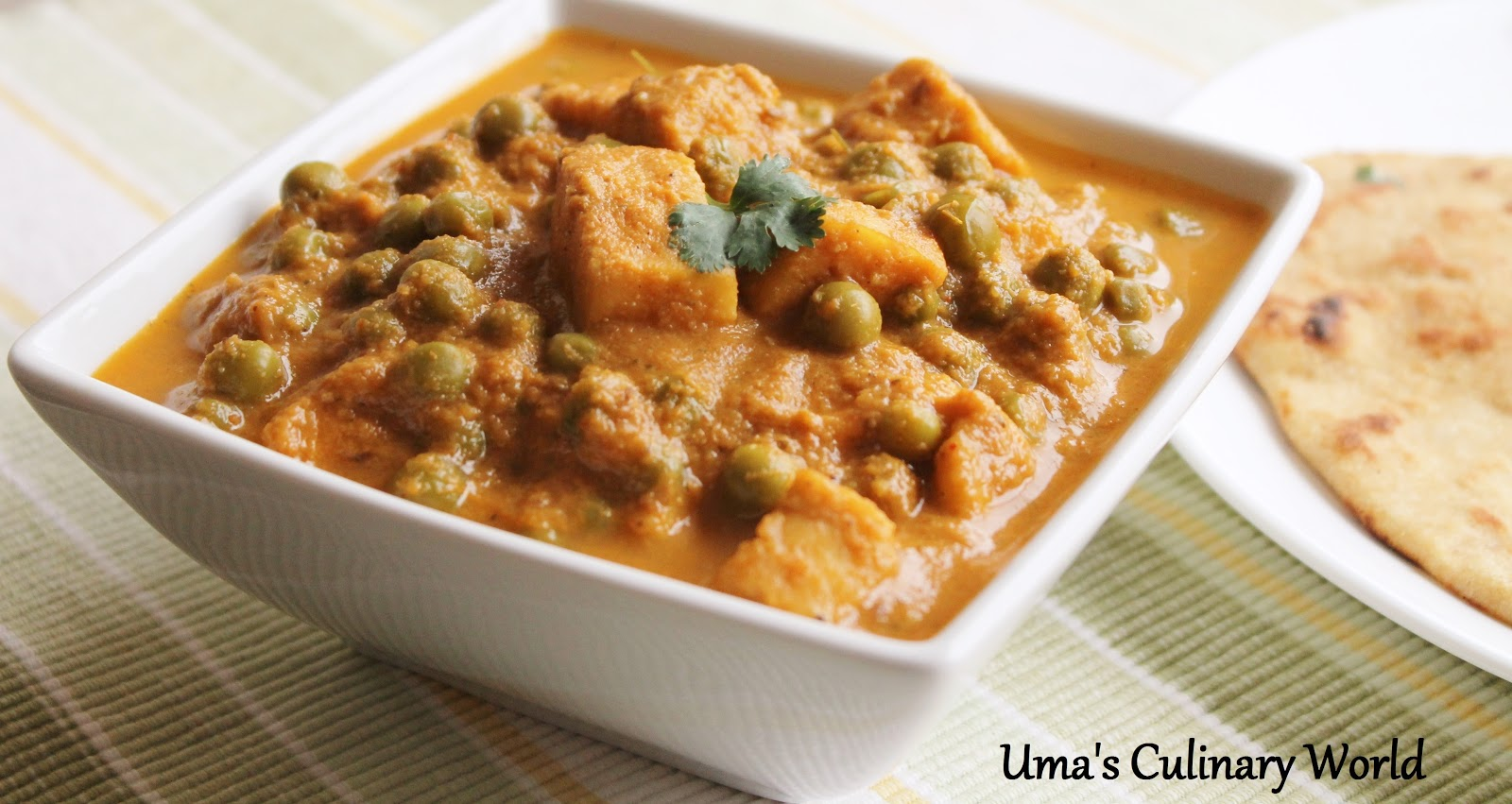 Matar Paneer is a lovely combo of veggies and cottage cheese. A North ...