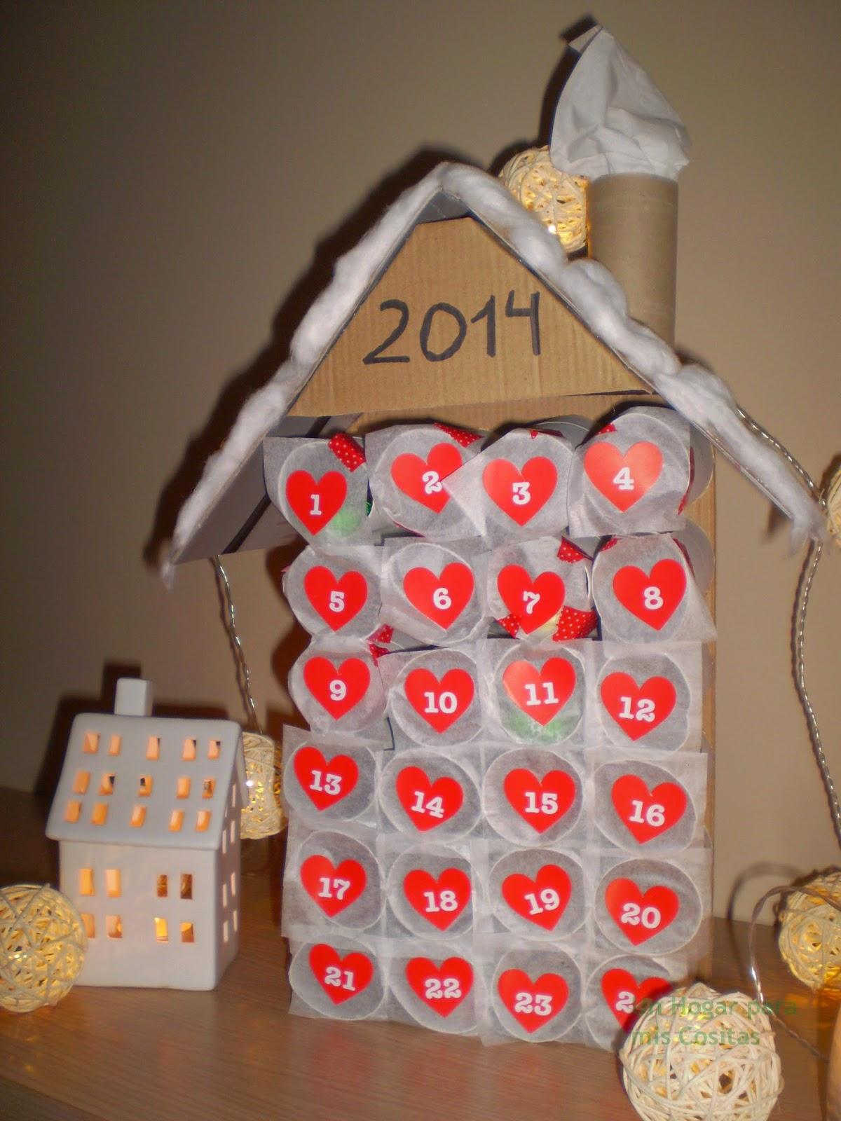 Un hogar para mis cositas inspiraciones para calendarios for Calendario de adviento casero