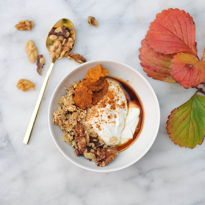 Pumpkin Pie Greek Yogurt Breakfast Bowl Recipe
