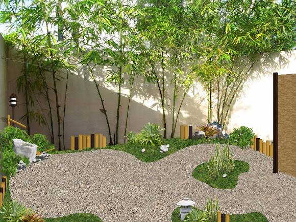 diseño jardin pequeño estilo japones