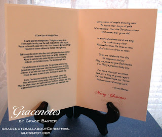 Angel card inside with poem by Grace Baxter
