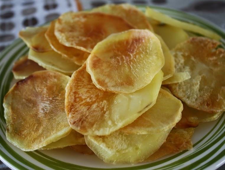 Batata Chips Assada (vegana)