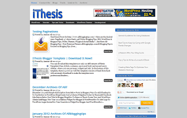 iThesis Blogger Template
