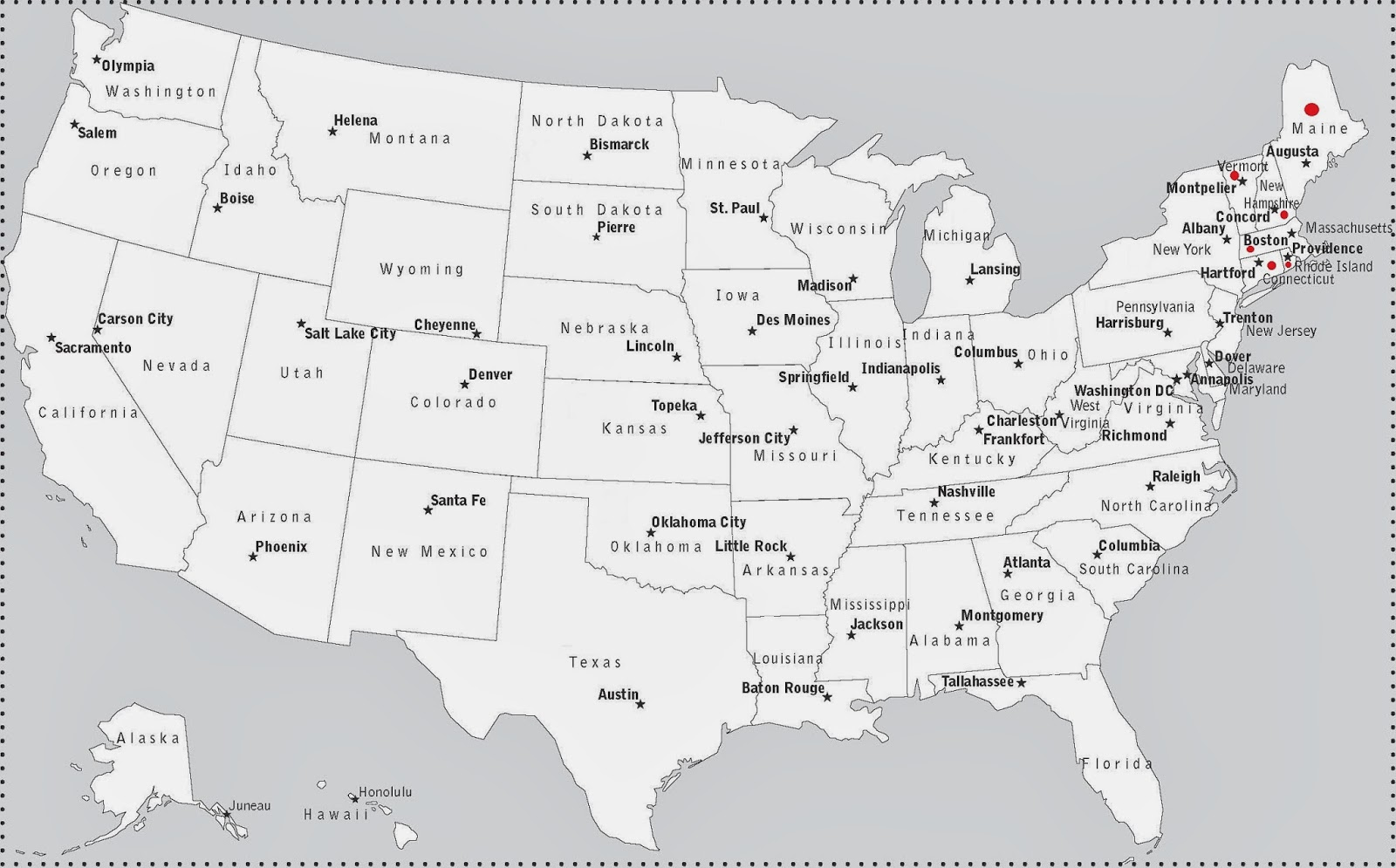 Northeastern States And Capitals Northeastern states