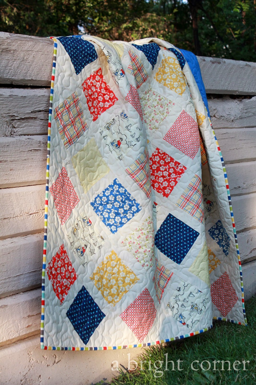 Seaside Squares quilt by Andy @ A Bright Corner