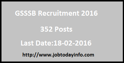 GSSSB Recruitment 2016 – Apply for 352 Occupational & Physio Therapist Posts