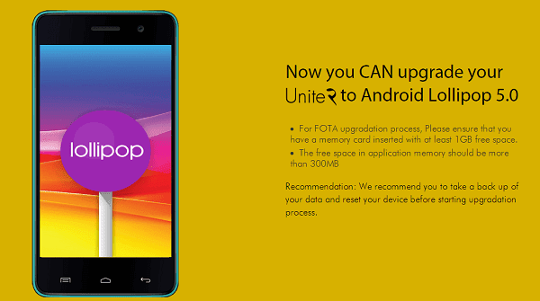 Micromax Canvas Unite 2 starts getting Android Lollipop