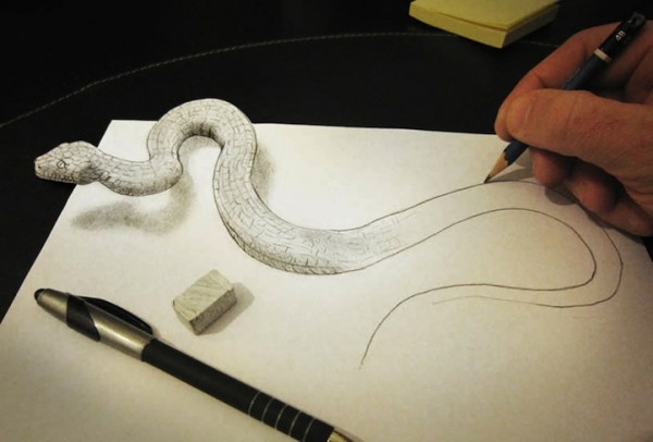 Anamorphic Drawings