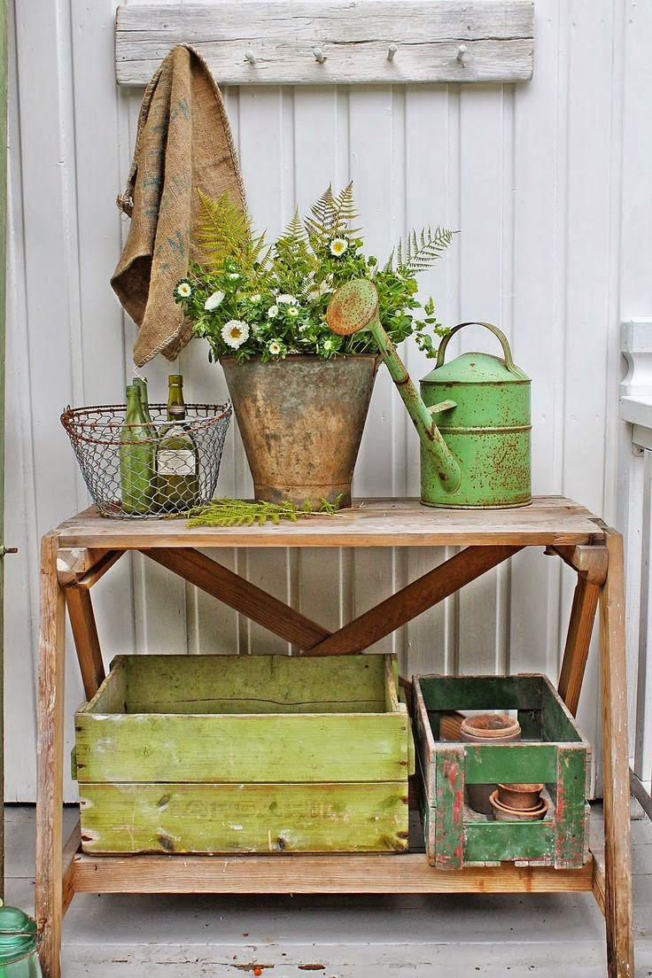 shabby decor spring