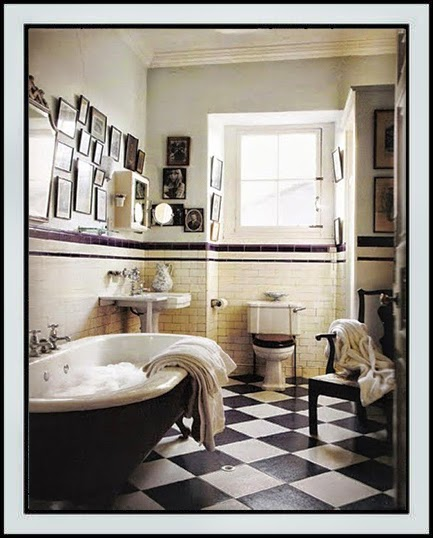 All colors of design: mood of the day: vintage bathroom