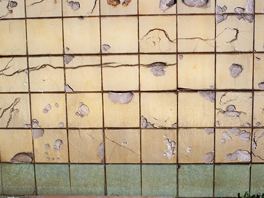 cracked tiles, urban, photography, contemporary