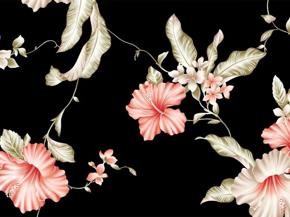 Flowers background designs many flowers for Cool floral wallpaper