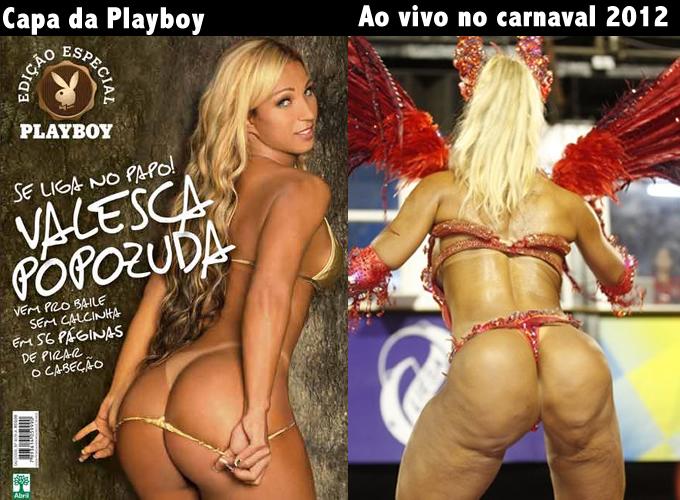 Valesca Popozuda com e sem Photoshop