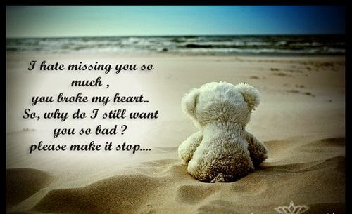 i hate missing you so much you broke my heart so why do i still want you so bad please make it stop god is heart