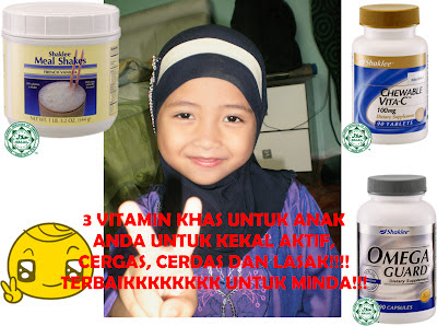 suplemen untuk anak, mealshake, omega, chewable vitamin c