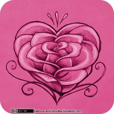 Tattoos and doodles rose heart for Tattoos with roses and hearts