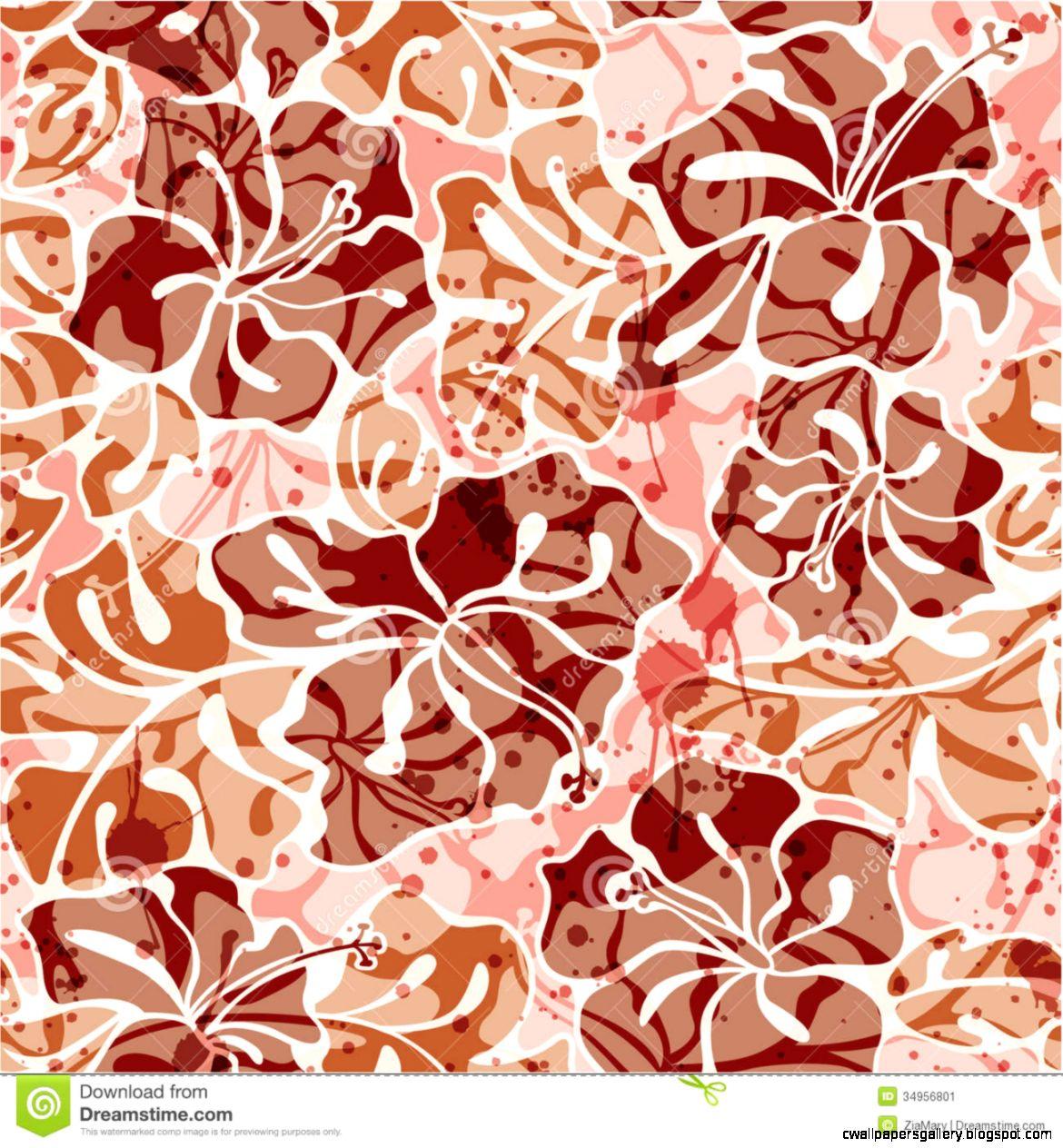 Grunge Hibiscus Flowers Seamless Pattern Stock Image   Image 34956801