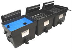 Why multiple chamber filter needed koi fish care info for Large pond filtration system