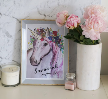 Personalized Unicorn Prints