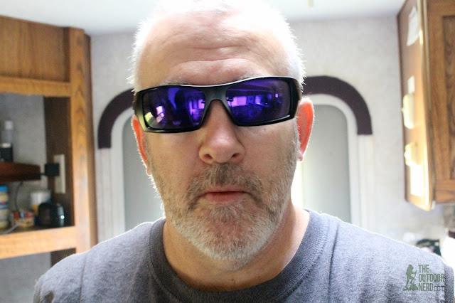Walleva Replacement Lenses For Oakley GasCan Sunglasses - Purple Lenses Selfie