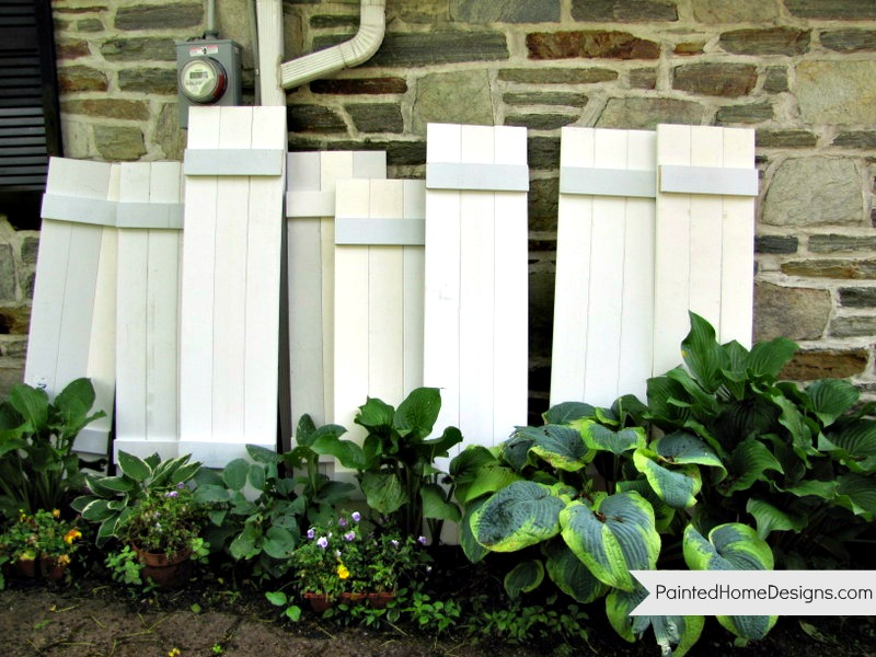 How to make your own exterior Shutters } - The Painted Home by ...