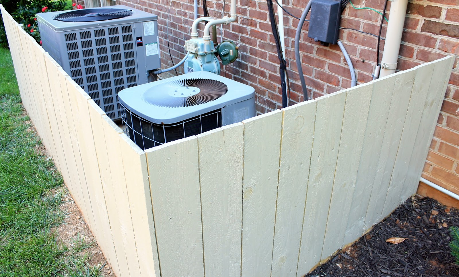 DIY Air Conditioner Hide It only has two sides which were both  #456286