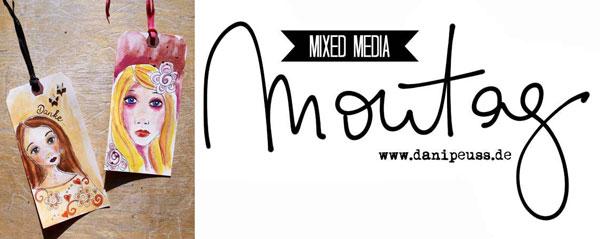Mixed Media Montag | Geschenk-Tags Mädchen |Anleitung von Britta Häusler für www.danipeuss.de