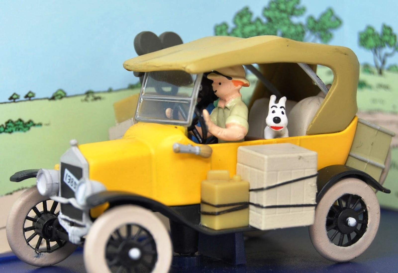 King in yellow de auto 39 s van kuifje in miniatuur 1 for Schepper van de stripfiguur kuifje