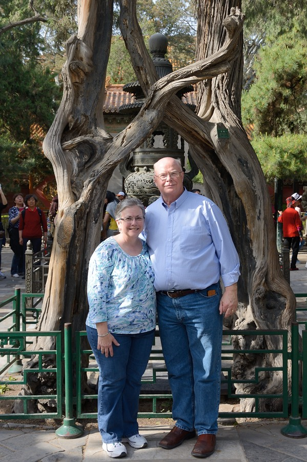 Greg and Theresa Brue in th Forbidden City