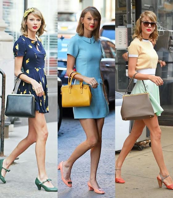 Moda Vintage e retro - Taylor Swift cantora norte americana