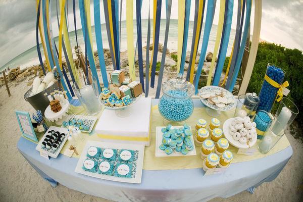 decoracao para casamento em azul e amarelo:Solteiras Noivas Casadas: Decoração do Casamento: Amarelo e Azul