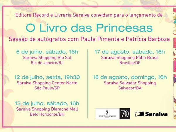 Eventos de O Livro das Princesas da Galera Record: Com Patricia Barboza e Paula Pimenta