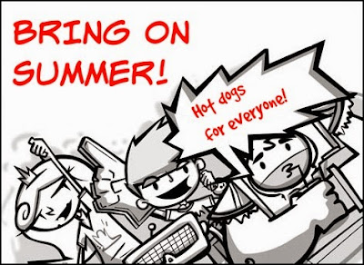 The crew of Galactic Hot Dogs love summer!