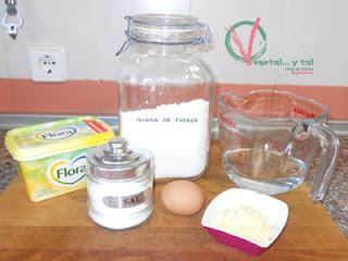 Ingredientes para la crema de la gougére.