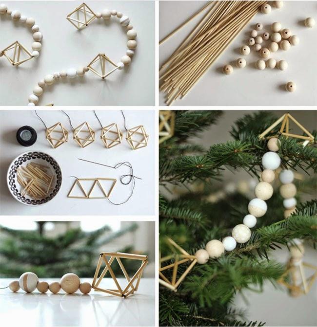 Tutorial ghirlanda di Natale in legno