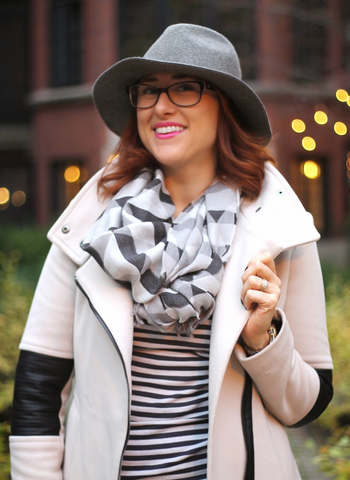 nordstrom, rack, coat, faux, leather, j crew, scarf