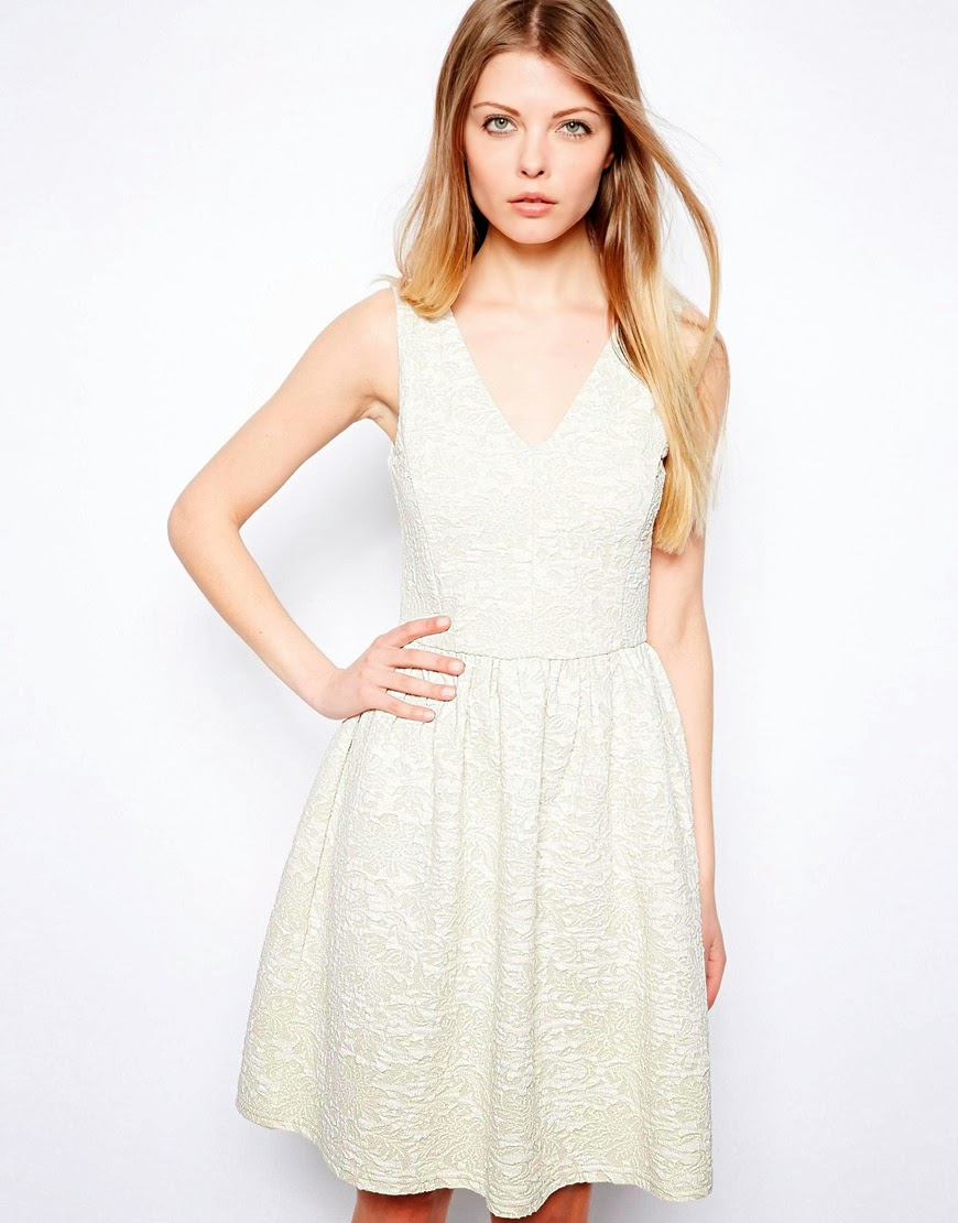 white vila dress