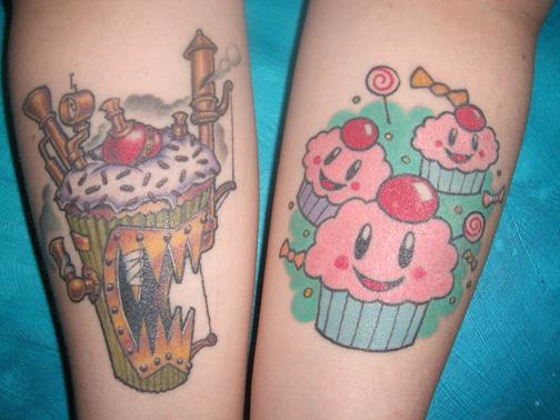 Evil Cupcake Tattoos