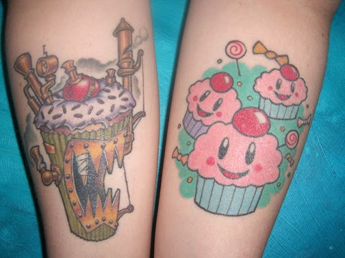 C for cupcake cupcakery tattoos exude pain and pleasure for Painful pleasures tattoo