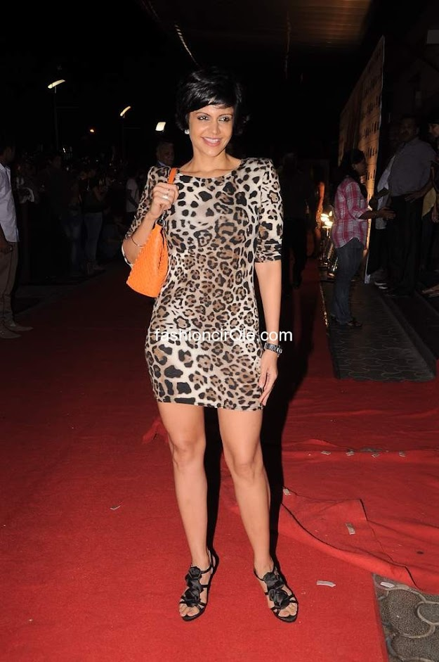 Mandira bedi looks super stylsih in a leopard print short dress - (10) -  Celebs at Ferrari ki Sawari premiere