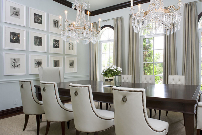 Modern Classic Dining Room Furniture White Leather Luxury Design Ideas